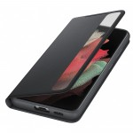 Husa Clear View Cover Samsung Galaxy S21 Ultra, Black