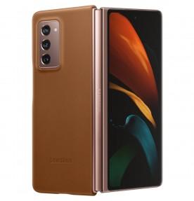 Husa Leather Cover pentru Samsung Galaxy Z Fold2 5G, Brown