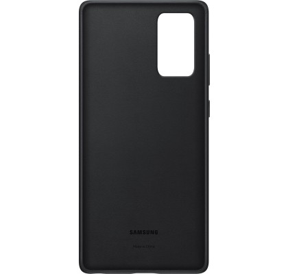 Husa Leather Cover pentru Samsung Note 20, Black