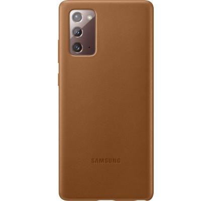 Husa Leather Cover pentru Samsung Note 20, Brown