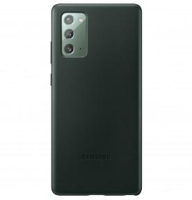 Husa Leather Cover pentru Samsung Note 20, Green