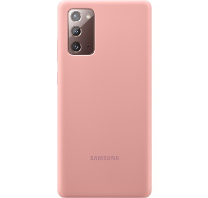 Husa Silicone Cover pentru Samsung Note 20, Copper Brown