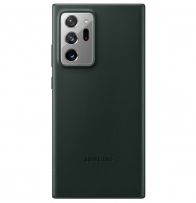 Husa Leather Cover pentru Samsung Note 20 Ultra, Green
