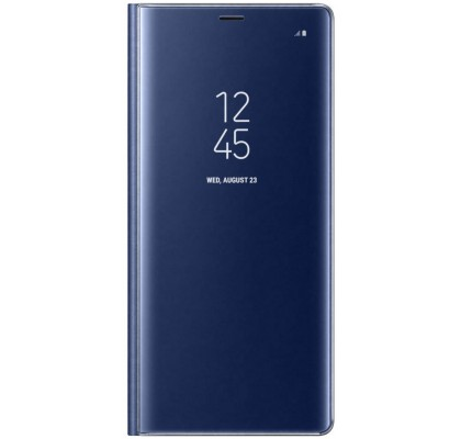 Husa Clear View Standing Cover Samsung Galaxy Note 8, Deep Blue