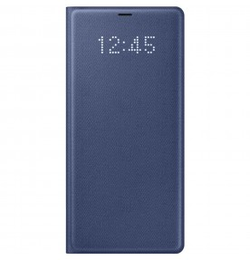 Husa LED View Cover pentru Samsung Galaxy Note 8, Deep Blue