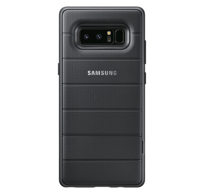 Husa Protective Standing Cover Clear Samsung Galaxy Note 8, Black