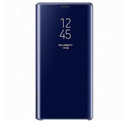 Husa Clear View Standing Cover Samsung Galaxy Note 9, Blue