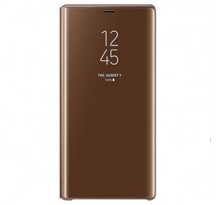 Husa Clear View Standing Cover Samsung Galaxy Note 9, Brown