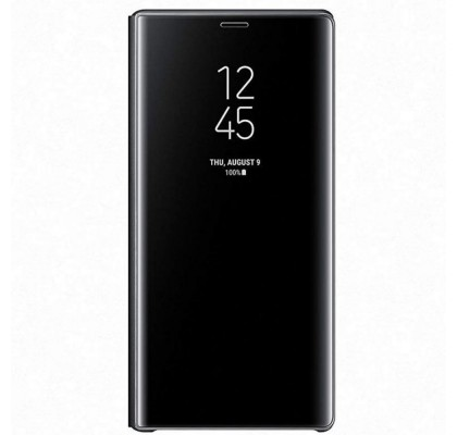 Husa Clear View Standing Cover Samsung Galaxy Note 9, Black