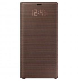 Husa LED View Cover pentru Samsung Galaxy Note 9, Brown