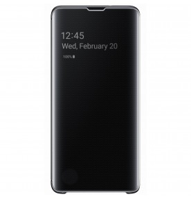 Husa Clear View Cover Samsung Galaxy S10, Black