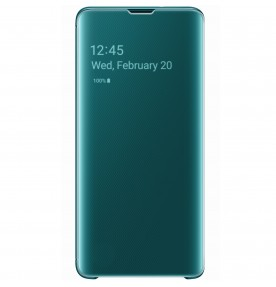 Husa Clear View Cover Samsung Galaxy S10, Green