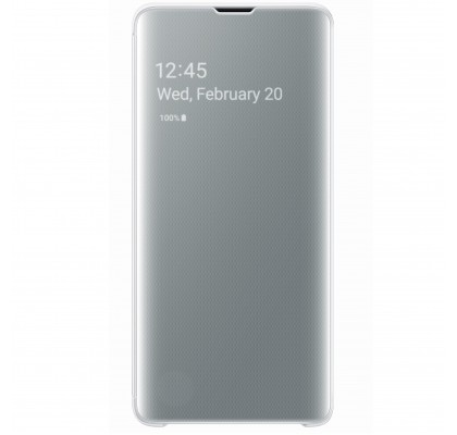 Husa Clear View Cover Samsung Galaxy S10, White