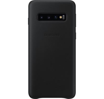 Husa Leather Cover pentru Samsung Galaxy S10, Black