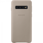 Husa Leather Cover pentru Samsung Galaxy S10, Gray