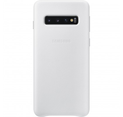 Husa Leather Cover pentru Samsung Galaxy S10, White