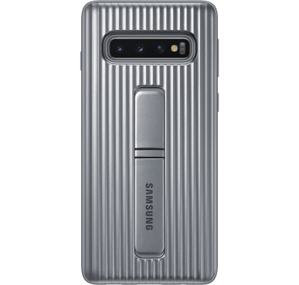Husa Protective Standing Cover Samsung Galaxy S10, Silver