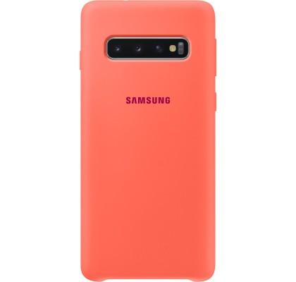 Husa Silicone Cover pentru Samsung Galaxy S10, Berry Pink