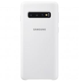 Husa Silicone Cover pentru Samsung Galaxy S10, White