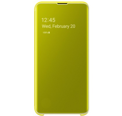 Husa Clear View Cover Samsung Galaxy S10E, Yellow