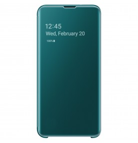 Husa Clear View Cover Samsung Galaxy S10E, Green
