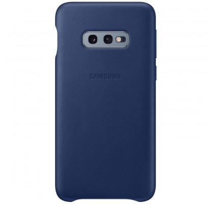 Husa Leather Cover pentru Samsung Galaxy S10e, Navy Blue