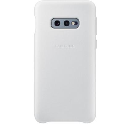 Husa Leather Cover pentru Samsung Galaxy S10e, White