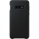 Husa Leather Cover pentru Samsung Galaxy S10e, Black