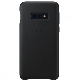 Husa Leather Cover pentru Samsung Galaxy S10e, Black