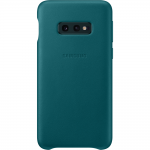 Husa Leather Cover pentru Samsung Galaxy S10e, Green