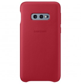 Husa Leather Cover pentru Samsung Galaxy S10e, Red