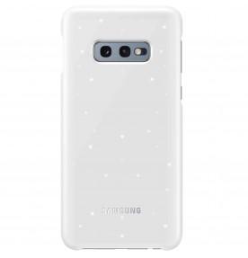 Husa LED Cover pentru Samsung Galaxy S10e, White