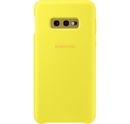 Husa Silicone Cover pentru Samsung Galaxy S10e, Yellow