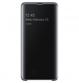 Husa Clear View Standing Cover Samsung Galaxy S10 5G, Black