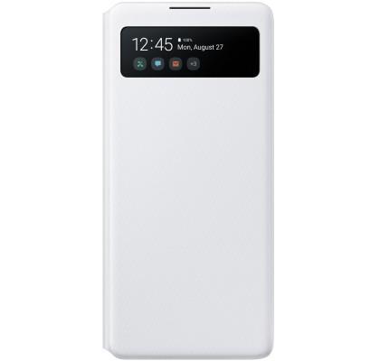 Husa S-View Wallet pentru Samsung Galaxy S10 Lite, White