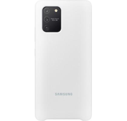 Husa Silicone Cover pentru Samsung Galaxy S10 Lite, White