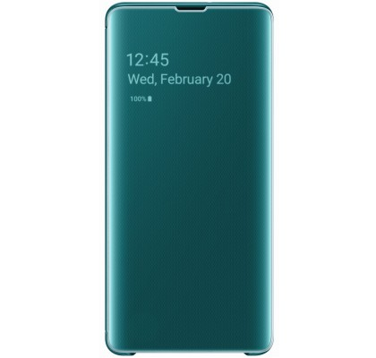 Husa Clear View Cover Samsung Galaxy S10+, Green