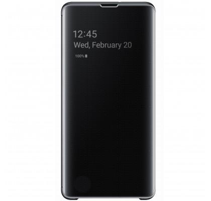 Husa Clear View Cover Samsung Galaxy S10+, Black