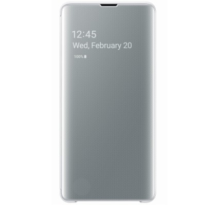 Husa Clear View Cover Samsung Galaxy S10+, White