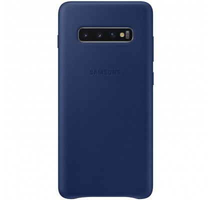 Husa Leather Cover pentru Samsung Galaxy S10+, Navy Blue