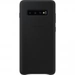 Husa Leather Cover pentru Samsung Galaxy S10+, Black