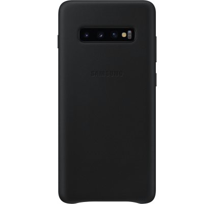 Husa Leather Cover pentru Samsung Galaxy S10+, Black