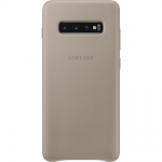 Husa Leather Cover pentru Samsung Galaxy S10+, Gray