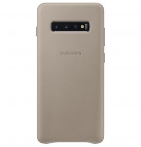 Husa Leather Cover pentru Samsung Galaxy S10+, Gray