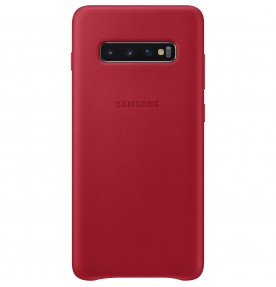 Husa Leather Cover pentru Samsung Galaxy S10+, Red