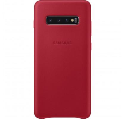 Husa Leather Cover pentru Samsung Galaxy S10+, Red