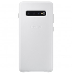 Husa Leather Cover pentru Samsung Galaxy S10+, White