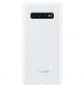 Husa LED Cover pentru Samsung Galaxy S10+, White