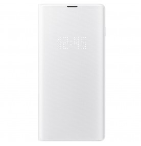 Husa LED View Cover pentru Samsung Galaxy S10+, White