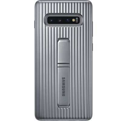 Husa Protective Standing Cover Samsung Galaxy S10+, Silver